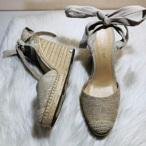 Ivanka Trump Ankle Wrap Tie Wedge 9.5